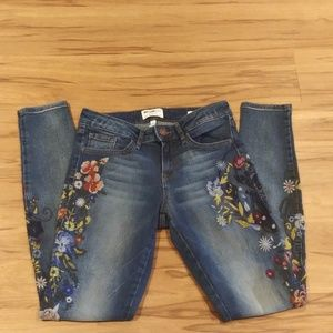 William Rast Perfect Skinny Floral Embroidery Jean